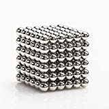 LiKee Upgraded 5MM 216 Pieces Magnets Sculpture Building Blocks Toys for Intelligence Learning -Office Toy & Stress Relief for Adults (Shiny Silver)