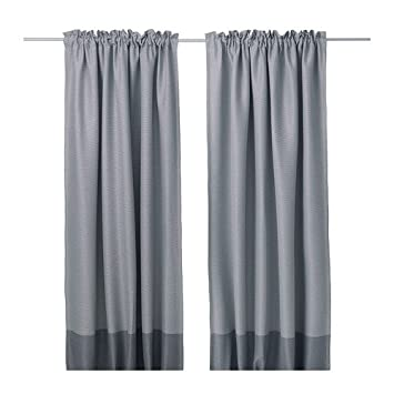 Ikea Marjun Tende Oscuranti 1 Paio Grigio 145 X 300 Cm