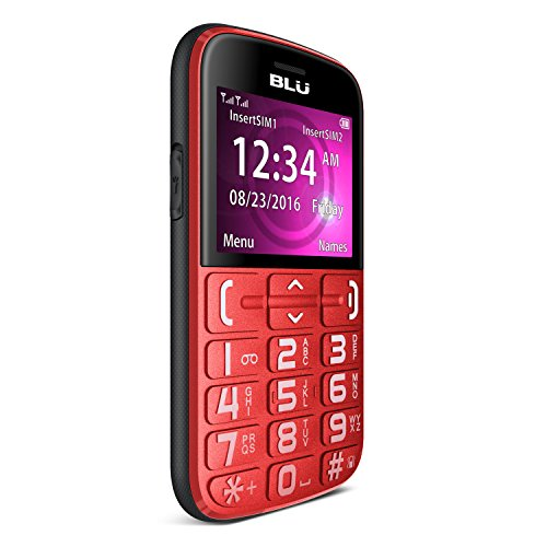 BLU JOY - 2.4', Factory Unlocked Phone - Red
