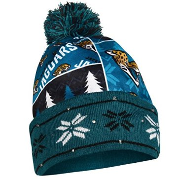 NFL Jacksonville Jaguars Busy Block Printed Light Up Beanie,