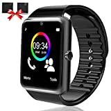 Bluetooth Smart Watch-SmartWatch for Android Phones with SIM Card Slot Camera, Fitness Watch with Sleep Monitor Pedometer Watch for Men Women Kids Compatible iPhone Samsung LG Huawei