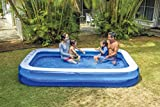 Giant Inflatable Kiddie Pool - Family and Kids Inflatable Rectangular Pool - 10 Feet Long (120' X 72' X 20')