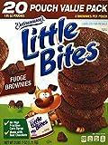 Entenmann's | Little Bites | Fudge Brownies | 20 Pouches 80 Muffins | 4 Muffins in each Pouch | Delicious | Yummy | Tasty | Net WT 2 LB 7 oz (1.11 Kg) | 1 Box |
