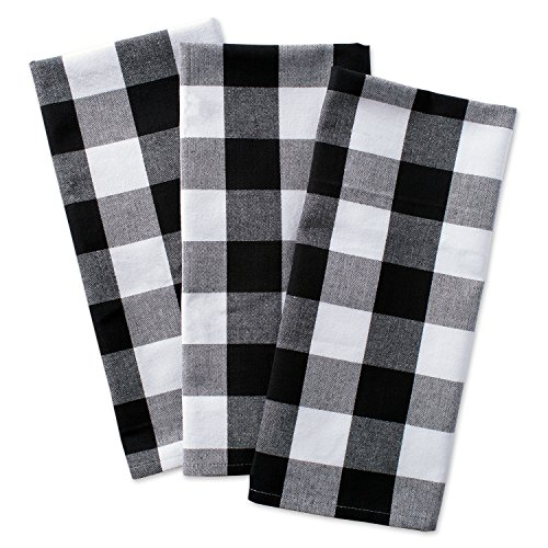 DII Cotton Buffalo Check Plaid Dish Towels, (20x30