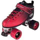 Riedell Skates - Dart Ombré - Quad Roller Speed Skate | Black & Red | Size 5