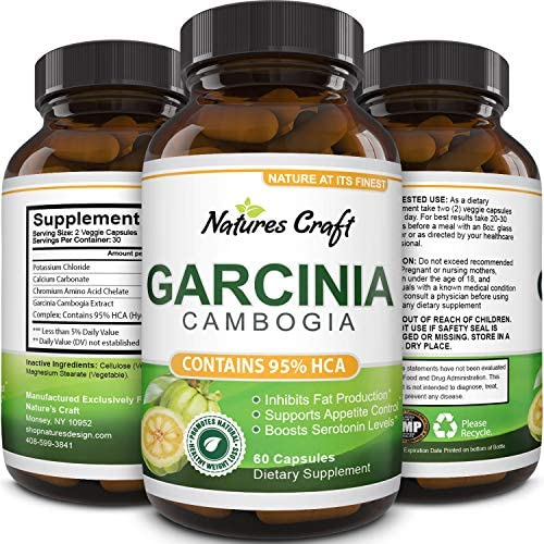 Garcinia Cambogia with 95% HCA Weight Loss Supplement - Best Fast Acting Fat Burner and Natural Carb Blocker Diet Pills - Pure Garcinia Extract Appetite Suppressant for Men & Women 3