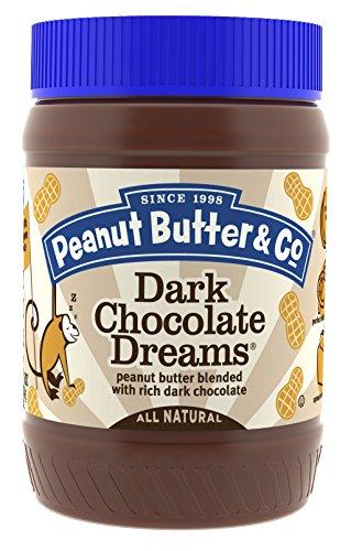 Peanut Butter & Co. Peanut Butter, Dark Chocolate Dreams, 16 Ounce Jars (Pack of 6)