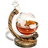 Etched Globe Decanter for Alcohol, Bourbon, Scotch, Whiskey, Wine Decanter - Wine Gift for Boss or Anniversary Gifts for Couple, Unique Gift for Wine Lovers, Wedding Anniversary Gift - 1000ml
