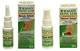 Seagate Products, Olive Leaf Nasal and Raspberry Spearmint Throat Spray Combo Pack (2Pack), Seagate Products