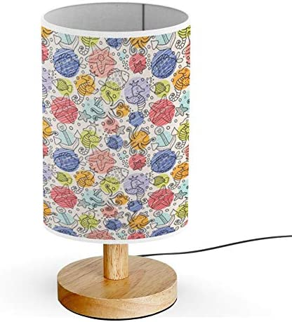 Artsylamp Wood Base Decoration Desk Table Bedside Light Lamp Childrens Marine Motifs Amazon Com