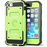 iPhone 5C Case, i-Blason Armorbox for Apple iPhone 5C Dual Layer Hybrid Full-body Protective Case with Front Cover and Built-in Screen Protector and Impact Resistant Bumpers for iPhone 5C (Green)