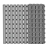 Global-Store Non Slip Bath Mat with Suction Cups, Bathroom Kitchen Door Floor Tub Shower Safety Mats Anti-Bacteria Professional with Drain Hole(16×25Inch) (Grey)