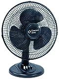 Comfort Zone Oscillating Table Fan   Portable, 3 Speed, Black Fan
