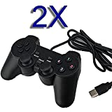 SQDeal 2 Pack USB GamePad Joypad Double Dual Shock Gaming Controller Joystick for PC Computer Laptop Windows [Video Game]