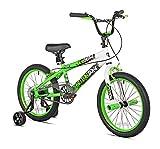 KENT Boys Action Zone Bike, 18', Green/Yellow/White