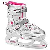 Lake Placid Monarch Girls Adjustable Ice Skate, White/Pink, Medium/2-6