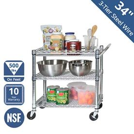 Seville-Classics-3-Tier-UltraDurable-Commerical-Grade-Heavy-Duty-NSF-Certified-Service-Utility-Storage-Cart-3375-W-Chrome