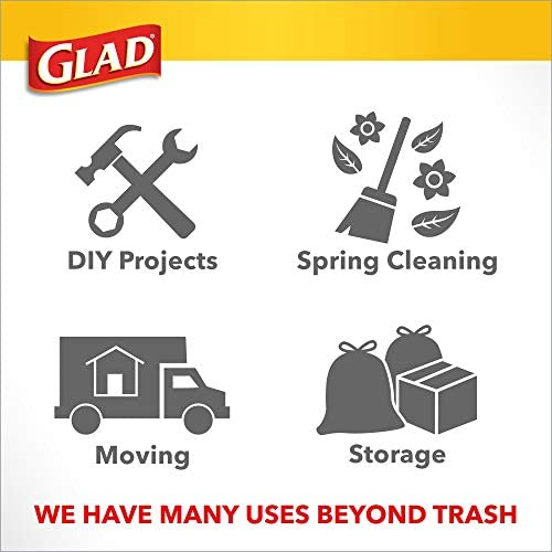 Glad Tall Kitchen Trash Bags ForceFlexPlus With Clorox, 13 Gallon, Mountain Air 90 Count (Package May Vary)