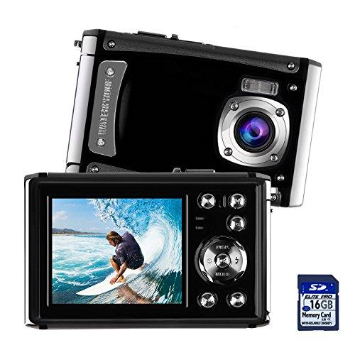 Waterproof Digital Camera for Kids, DECOMEN Underwater Sport Camera, Ultra HD 16MP Digital Kids Camera with 2.4″ LCD Screen