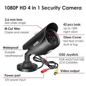ZOSI-1080P-HD-1920TVL-Hybrid-4-in-1-TVICVIAHD960H-CVBS-CCTV-Surveillance-Weatherproof-Bullet-Security-Camera-42PCS-Infrared-LEDs-120ft-IR-Distance-For-HD-TVI-AHD-CVI-and-CVBS960H-analog-DVR