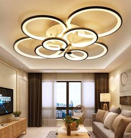 CITRA-8-Light-Brown-Body-Round-Modern-LED-Chandelier-Ring-for-Dining-Living-Room-Office-Hanging-Suspension-Lamp-M00618-Warm-White