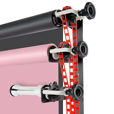 Neewer-Photography-4-Roller-Wall-Mounting-Manual-Background-Support-System-including-Two2-Four-fold-hooks-Six6-Expand-bars-Four4-Chains-Ten10Clamp-Screws