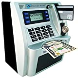 ATM Savings Bank, Personal ATM Cash Coin Money Savings Piggy Bank Silver/Black Machine