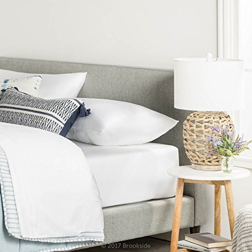 Brookside TENCEL Sheet Set - Luxurious Feel - Great for Sensitive Skin - Sateen Weave - Eco Friendly - Queen - White