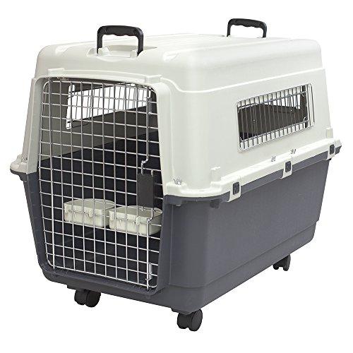 SportPet Designs Plastic Kennels Rolling Plastic Wire Door Travel Dog Crate 1