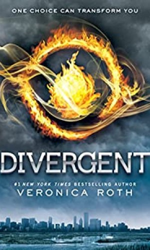 Book cover Divergent distant city ball of glowing fire
