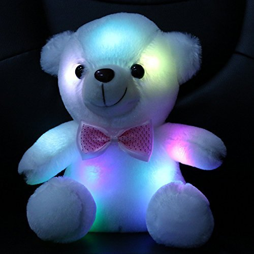 Wewill Luminous Night Light Glow Teddy Bear Led Colorful Stuffed