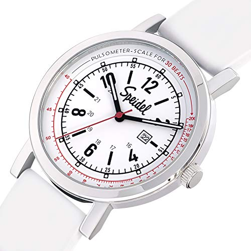 Speidel Scrub 30 Look ahead to Medical Professionals with Scrub Matching White Silicone Band, Pulsometer, Date Window, Straightforward to Learn Dial, Second Hand, Army Time for Nurses, Medical doctors, College students deal 50% off 51rtP8QdGJL