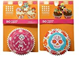 Halloween Cupcake Liners Sugar Skull Day of the Dead Printed Baking Cups, 2 Pack