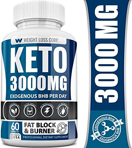 Keto Diet Pills - 3000MG - Exogenous BHB - Made in USA - Professional Certified Facility - 60 Capsules of Ketosis Supplement - Best Ketogenic Supplement for Women & Men 10