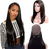 Straight Human Hair Wigs Lace Front Wigs 13×4 Silk Top Wig Glueless Pre Plucked With Baby Hair Amazon Wigs For Black Women Cheap Lace Wig 150 Density For Black Women