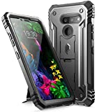 LG G8 ThinQ Rugged Case with Kickstand, Poetic Full-Body Dual-Layer Shockproof Protective Cover, Built-in-Screen Protector, Revolution Series, for LG G8 ThinQ Verizon/AT&T/Sprint/T-Mobile(2019), Black