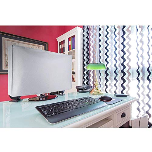 Dorca Monitor Dust Cover for HP All-in-One 24-df0215in 23.8-Inch FHD with Alexa Built-in - White TODAY OFFER ON AMAZON
