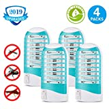 Shootingstar Electronic Bug Zapper Mosquito Trap & Killer Insect Killer Lamp - Eliminates Mosquitoes Fruit Flies and Flying Gnats (Pack of 4)