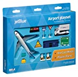 JetBlue Die-Cast Airport Playset (11 Pieces in set)