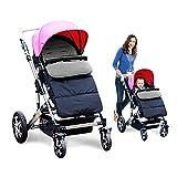 Kidsidol Baby Sleeping Bag Universal Bunting Bag Stroller Footmuff Cover 3-in-1 Baby Stroller Blanket Waterproof Windproof Stroller Annex Mat Keep Warm and Detachable (Grey)
