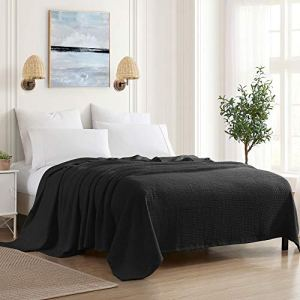Sweet Home Collection 100% Fine Cotton Blanket Luxurious Basket Weave Stylish Design Soft and Comfortable All Season…
