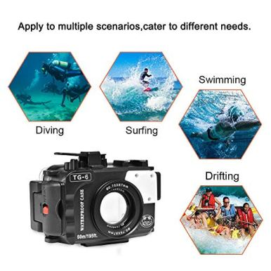 Seafrogs-Underwater-Housing-Professional-for-Olympus-TG-6-Diving-Case-60m195ft-Waterproof-Box-Black