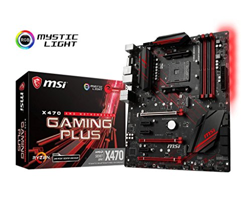 MSI X470GPLUS Performance Gaming AMD X470 Ryzen 2 AM4 DDR4 Onboard Graphics CFX ATX Motherboard