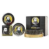 Professor Fuzzworthy BIG Beard Kit for Men Gift Pack | 100% Natural Beard SHAMPOO Beard Balm & Beard Conditioner | Bass Beard Brush Boar Bristle | Organic Essential Plant Oils