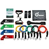 Odoland 16 pcs Resistance Bands Set Workout Bands and Rehab Bands, Heavy Exercise Bands Fitness Bands with Door Anchor, Ankle Strap, Resistance Loop Bands for Gymnastics