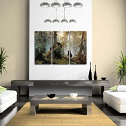 Bears Play in Forest Wall Art