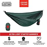 Grand Trunk Ultralight Hammock: Portable Camping, Hiking, Backpacking, and Travel Hammock: Perfect Starter Hammock, Forest Green