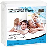 Utopia Bedding Premium Waterproof Mattress Protector - Breathable Fitted Mattress Cover (Queen)