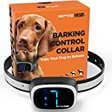 BRISON Dog Bark Collar - 3 Modes Beep Vibration Static Shock - Rechargeable Waterproof Anti Bark Collar for Small Medium and Large Dogs