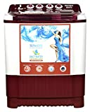 Intex 7.6 kg Semi-Automatic Top Loading Washing Machine (WMS76FT, White and Cherry Red)